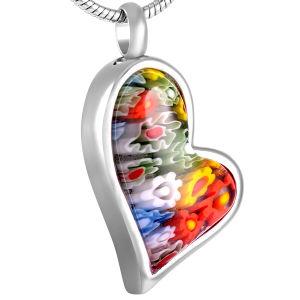De hart Gestalte gegeven Juwelen van de Crematie van het Roestvrij staal van de Tegenhanger van de Crematie van het Glas