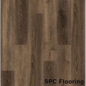 Clique em madeira impermeável Spc Lvt Vinil PVC rígido Plank Flooring