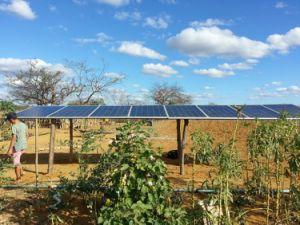 Suministro de fábrica de 3 años de garantía Material de acero inoxidable 304 de la bomba de agua solar en Uganda