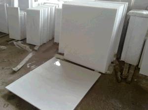 水晶白い大理石の平板のタイル