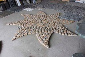 Pavimentazione di pietra del cobblestone naturale del granito cubo