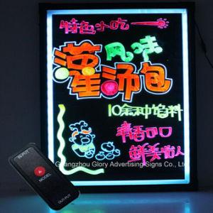 LEDの執筆ボードの点滅の蛍光掲示板の三脚
