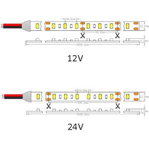 ULのセリウムのOsram 5630 60LEDs 24W 24V非防水LEDのリボンライト