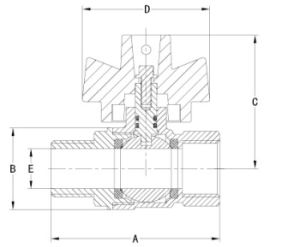 Клапан блокировки латуни с никелевое покрытие BV1030-Mf