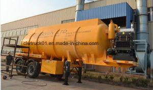 25 ton de sucção a vácuo de esgoto do reboque atrelado de sucção fecal de Sucção