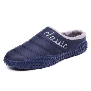Los hombres calientes en invierno la moda casual zapatillas de algodón cómodo engrosamiento de la Cubierta antideslizante caliente zapatillas algodón