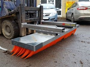 Spazzola dura industriale di spinta della spazzatrice di strada della spazzola della scopa di spinta