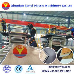 クリックシステム屋内使用法PVC/WPC/Spc/Lvtのフロアーリングのプラスチック機械装置