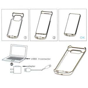 Galaxy S7, Caja de Batería 4200mAh cargador de batería externo Ultradelgado Portátil Cubierta estuche de carga para el Samsung Galaxy S7 Batería Recargable Ju