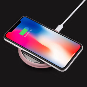 Mejor diseño de carga inalámbrica espejo Pad Ultrafino aleación de aluminio Teléfonomóvil cargador inalámbrico