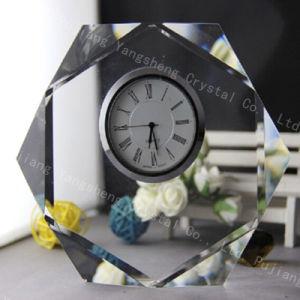 表およびオフィスの装飾のための水晶三角形のクロック