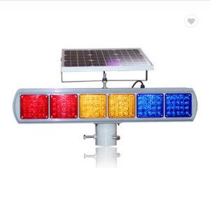 La energía solar Amarillo Azul Rojo de la luz de LED intermitente del módulo