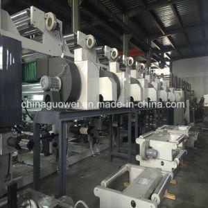 Drei Farben-Gravüre-Drucken-Maschine des Motor8 in der Geschwindigkeit von 160m/Min