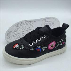 Última Calzado niños lindo Lace-up Sneakers Zapatos de lona Hh0427-19
