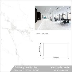 De marmeren Tegel van de Vloer van het Porselein van het Lichaam van het Exemplaar Volledige Lichtgrijze (VRP12F266, 600X1200mm/24 '' x48 '')