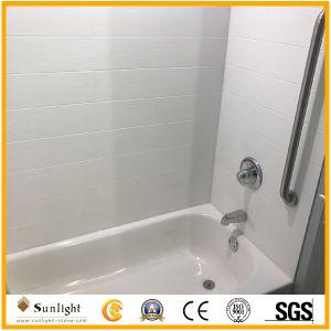 Populaires Cultured Marble blanc Douche Baignoire panneaux Surround pour l'hôtel Salle de bains