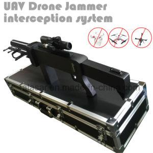 4本のアンテナGPSの画像伝達リモート・コントロール詰め込む盾の不時着の背部Uavの無人機の妨害機を詰め込む携帯用銃の形Uavの無人機の妨害機