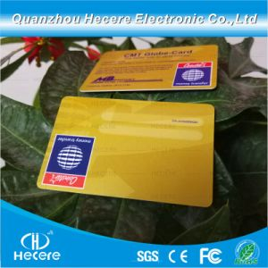 Cr80 30mil format carte de crédit cache en plastique PVC carte ID