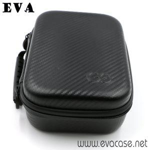 EVA moulée Gopro disque Mallette de transport avec cuir en fibre de carbone
