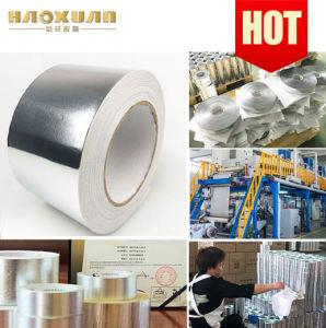 低価格のはさみ金が付いている黒によって補強される耐火性のアルミホイルの粘着テープ