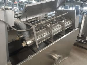 Pressione o parafuso para equipamento de desidratação de lamas de depuração de matérias têxteis