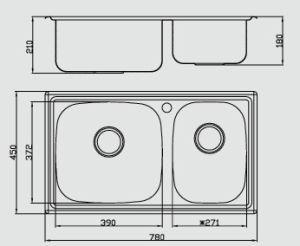 502A Undermount Dibujo One-Shot Fregadero de acero inoxidable