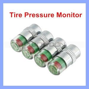 2.4 Gummireifen der Stab-Auto-Überwachungsgerät-Ventil-Sensor-Gummireifen-Druckanzeiger-Lehren-Schutzkappen-Warnungs-4 (TIRE-01)
