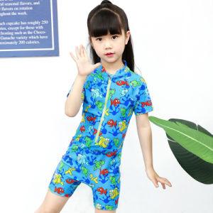 Une protection parfaite de la plongée Upf40+ Lycra zip avant de fixation de la protection des enfants d'une pièce costume de surf