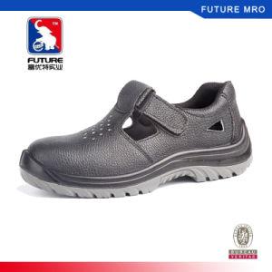 鋼鉄つま先を搭載する本革の夏の安全靴