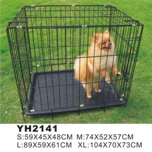 Grande gabbia dell'animale domestico della fossa di scolo della gabbia del cane del ferro