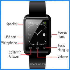 Regalo inteligente Ver teléfono móvil con cámara Bluetooth ranura para tarjeta SIM para Apple Samsung