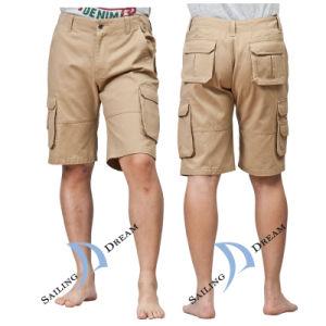 2014 Beach Shorts Pantaloni Khaki uomo in cotone (PS12C34)