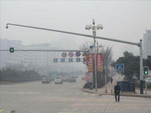 Sinal de Trânsito câmara CCTV pólo de Aço Galvanizado