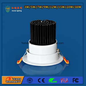 IP20 90lm/W 5W 고성능 Downlight 위락 공원을%s 알루미늄 옥수수 속 LED 아래로 천장 반점 빛