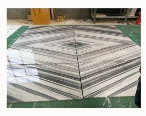 中国の大理石の工場床デザインマルマラ島白いパターン3D大理石のタイル