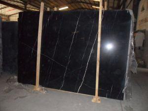 自然な石造りの黒いMarquinaの大理石の床タイル