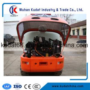 4WD de MiniLader van het Wiel 1tons (ZL10E)