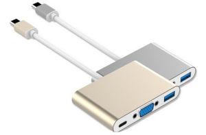 Fabrik Großhandelstyp-cc$c Adapter zum VGA-USB3.0 mit Palladium-aufladenkanal
