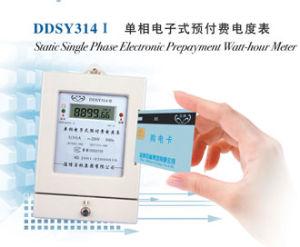 Статические Однофазные электронные предоплата Стоимость киловатт-часа метр (DDSY314)