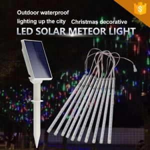 Angeschaltenes 10tubes/Sets LED Meteor-Solarlicht des Regentropfen-Light/LED