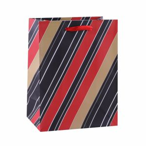 Красный Свеча Благодарения моды арт бумага с покрытием подарочные бумажные пакеты