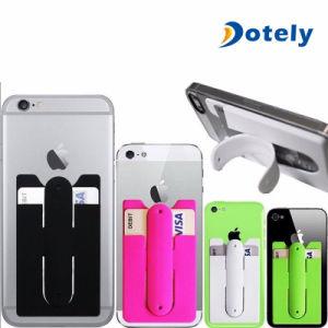 Nützlicher Silikon-Stock-Kreditkarte-Halter-Schlitz-Standplatz-Shell-Fall für intelligentes Telefon