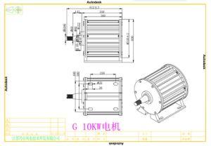 gerador de ímã permanente Synchronous de 10kw 96V/120V/220V Pmg