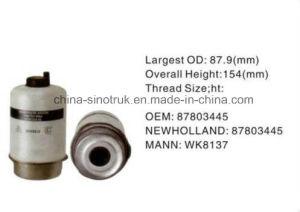 A fábrica de alta qualidade de alimentação de gasóleo do filtro de óleo do filtro 82983474 82005016 81865736 OEM para New Holland