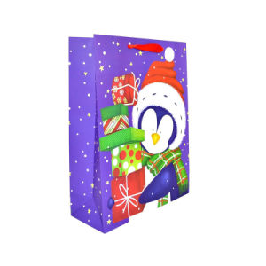 Sac en papier kraft de la mode pour les cadeaux de Noël (YH-PGB070)