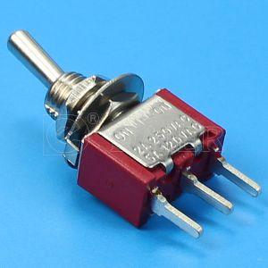 Spdt小型PCBのトグルスイッチの6A 3 Pin