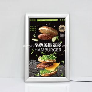De reclame van LEIDENE van het Frame van het Aluminium Onverwachte Slanke Lichte Doos