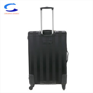 China 28 Cian OEM azul y franjas negras de sarga Oxford y PP Softside compuesto de rodadura de las 4 ruedas de gran capacidad de candado llevar la maleta de viaje en el trolley maletas