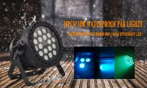 18*10W impermeabilizzano l'indicatore luminoso del partito della fase KTV Parcan del LED