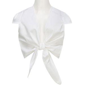 O verão sexy camisola pescoço V mulheres Bustier Parte Superior de Cultura Flamingo tops